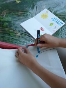 Un transat pop-coloriage à colorier & à découvrir ces 23 & 24 juillet 2016 © Perluette