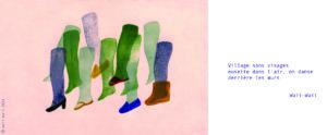 Haïku & dessin tirés du blog de collecte initié dans le cadre d'un CLEA en 2020©Waii-Waii